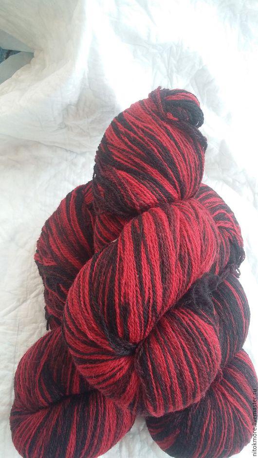 Вязание ручной работы. Ярмарка Мастеров - ручная работа. Купить Кауни Black-red 8/2. Handmade. Комбинированный, кауни, секционная