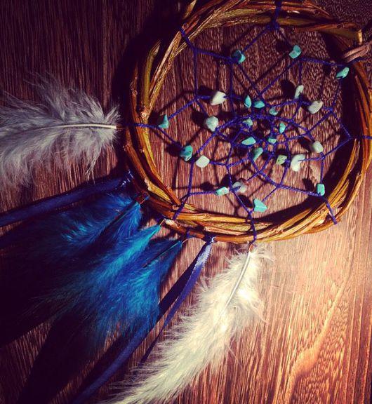 """Подвески ручной работы. Ярмарка Мастеров - ручная работа. Купить Ловец снов """"Небесно-голубое счастье"""". Handmade. Ловец снов"""