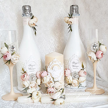 Свадебный салон ручной работы. Ярмарка Мастеров - ручная работа Нежно-розовый и персиковый набор аксессуаров. Handmade.