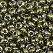 Материалы для творчества handmade. Livemaster - original item 10 gr 3 mm Toho Magatama 457 green tea angry siyan Japanese beads TOHO. Handmade.