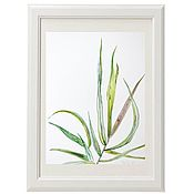 Картины и панно handmade. Livemaster - original item Painting watercolor blades of Grass. Handmade.