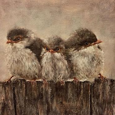 Картины и панно ручной работы. Ярмарка Мастеров - ручная работа Три товарища. Handmade.