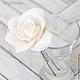 Заколки ручной работы. Комплект свадебных шпилек с розами - Белые (3 шт). Tanya Flower. Ярмарка Мастеров. Украшение в волосы