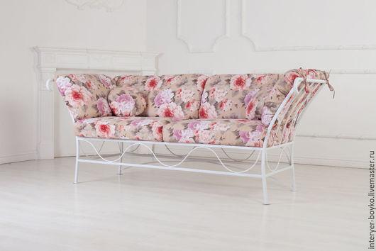 Мебель ручной работы. Ярмарка Мастеров - ручная работа. Купить Кованый диван в стиле Прованс. Handmade. Кремовый, терасса, нежность