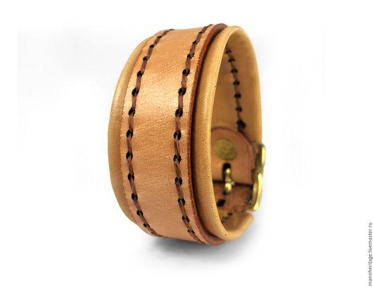 Браслеты ручной работы. Ярмарка Мастеров - ручная работа. Купить Кожаный браслет BACKING - натуральный. Handmade. Натуральная кожа