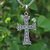 handmade. Livemaster - original item Cross male-female made of 925 sterling silver HH0078. Handmade.