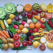Кукольная еда ручной работы. Ярмарка Мастеров - ручная работа Кукольная еда. Овощи и фрукты из полимерной глины. Еда для кукол.. Handmade.