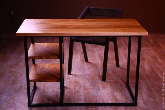 Мебель ручной работы. Ярмарка Мастеров - ручная работа. Купить Рабочий стол. Handmade. Дуб, металл, масло, Дуб, металл