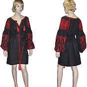Одежда ручной работы. Ярмарка Мастеров - ручная работа Вышиванка Бохо стиль Вышитая туника Украинская вышивка Льняная блузка. Handmade.