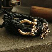 Украшения handmade. Livemaster - original item Leather bracelet -