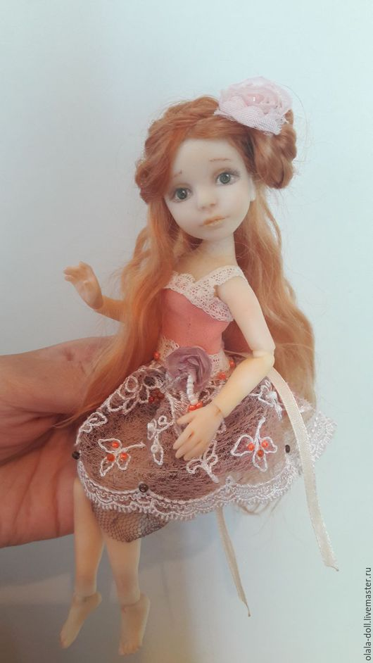 Коллекционные куклы ручной работы. Ярмарка Мастеров - ручная работа. Купить Шарнирная кукла Женечка. Handmade. Коралловый, игровая кукла