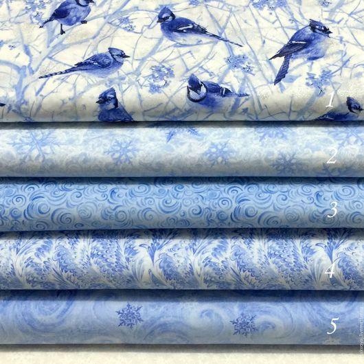 """Шитье ручной работы. Ярмарка Мастеров - ручная работа. Купить Коллекция """"Winter"""". Handmade. Голубой, новогодняя ткань"""
