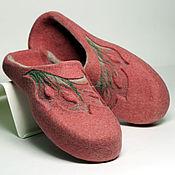 """Обувь ручной работы. Ярмарка Мастеров - ручная работа Валяные тапочки """"Spring Pastel"""" по мотивам """"Spring Watercolor"""". Handmade."""