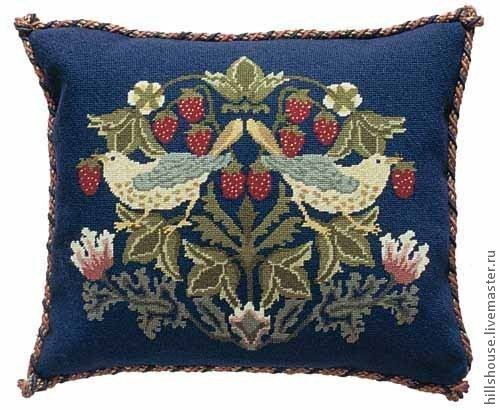Текстиль, ковры ручной работы. Ярмарка Мастеров - ручная работа. Купить Земляничный вор(набор для вышивания). Handmade. Тёмно-синий