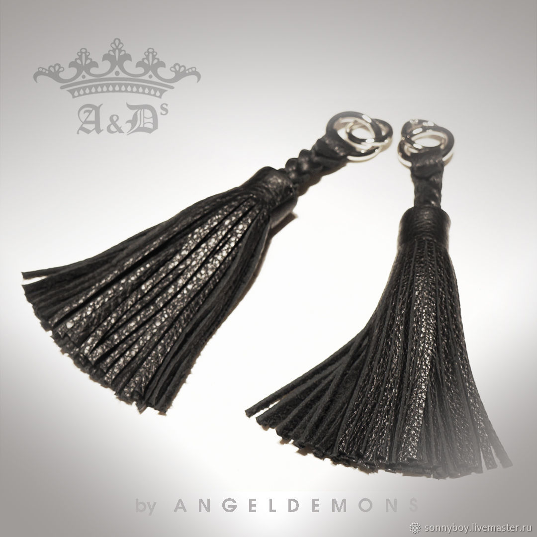 Брелок для сумки из кожи - Handbag Keychain Black