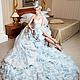 Одежда и аксессуары ручной работы. Ярмарка Мастеров - ручная работа. Купить Голубое свадебное платье пачка AVA LUXE с длинным шлейфом. Handmade.