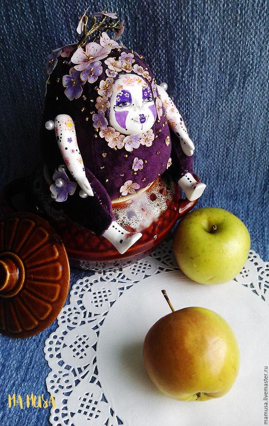 """Коллекционные куклы ручной работы. Ярмарка Мастеров - ручная работа. Купить Коллекционная кукла """"СакураСан"""". Handmade. Тедди-долл, цветы"""