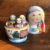 Русский стиль handmade. Livemaster - original item Matryoshka-peddler author`s Family, 18 cm. Handmade.