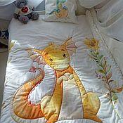 Детское одеяло ручной работы. Ярмарка Мастеров - ручная работа Комплект постельного белья для детей. Одеяло, наволочка на молнии. Handmade.