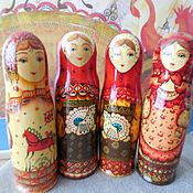 Русский стиль handmade. Livemaster - original item Matryoshka bottle case. 21 cm. In Russian style.. Handmade.