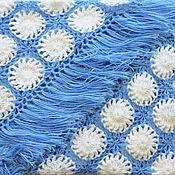 Аксессуары handmade. Livemaster - original item Shawl knitted multicolored AZIDA 220*105 cm with patterns and fringe g006. Handmade.