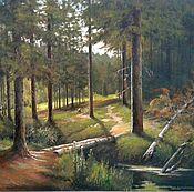 Картины и панно handmade. Livemaster - original item 01 oil Painting peisaj Cozy Les Vladimir Chernov. Handmade.