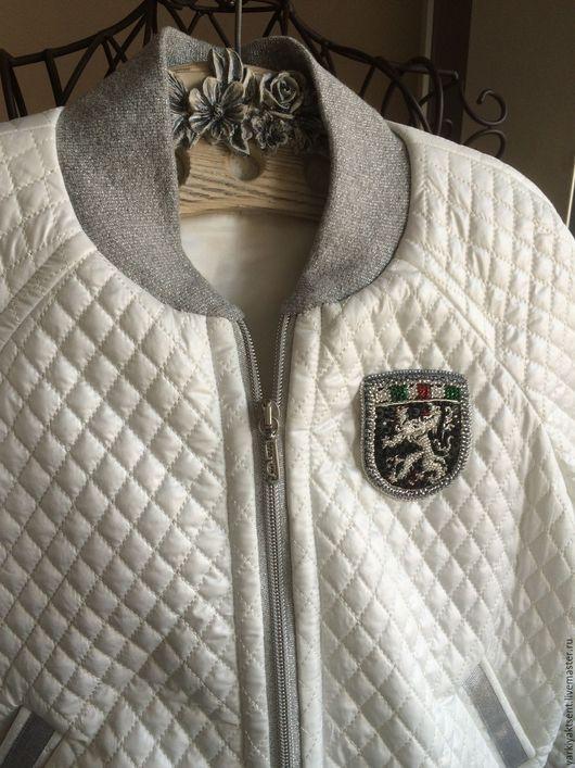 Одежда унисекс ручной работы. Ярмарка Мастеров - ручная работа. Купить Куртка КЛБ 1044. Handmade. Белый, унисекс