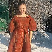 Одежда handmade. Livemaster - original item Author`s felted dress