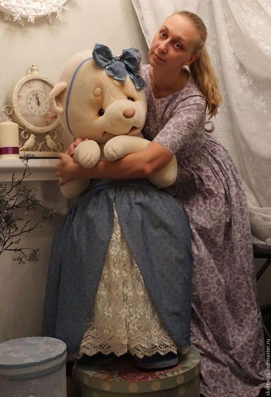 Мишки Тедди ручной работы. Ярмарка Мастеров - ручная работа. Купить Мари и Щелкунчик (125 см). Handmade. Белый, большой мишка