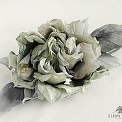 Цветы и флористика handmade. Livemaster - original item Silk flowers. Rose Brooch