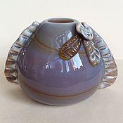 Винтаж handmade. Livemaster - original item Vase Red May, the Soviet Union 50-60 sulphide-zinc glass. Handmade.