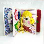 Куклы и игрушки handmade. Livemaster - original item Educational book for girls 2-3 years. Handmade.