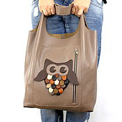 Сумки и аксессуары handmade. Livemaster - original item Bag - Bag Pack - medium size with pockets and applique. Handmade.