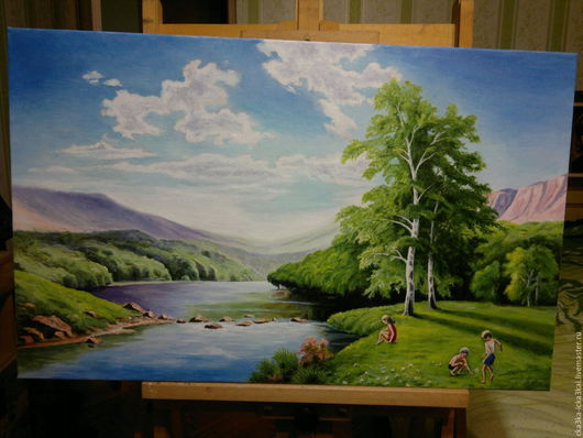 картина выполнена на холсте размером 80х50 масляными красками. ручная работа - холст, масло.