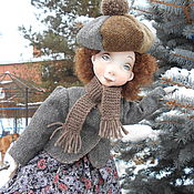 Куклы и игрушки ручной работы. Ярмарка Мастеров - ручная работа Подвижная кукла из папье маше Евгения.... Handmade.