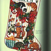 Материалы для творчества ручной работы. Ярмарка Мастеров - ручная работа Книга по вышивке крестиком Новый год Рождество. Handmade.