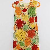 Работы для детей, ручной работы. Ярмарка Мастеров - ручная работа Платье Праздник Осени. Handmade.