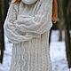 свитер туника, свитер оверсайз, туника оверсайз, свитер с косами, джемпер вязаный, пуловер вязаный, джемпер оверсайз, платье джемпер, джемпер с хомутом, объемный джемпер, джемпер белый, туника вязаная