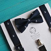 Аксессуары handmade. Livemaster - original item Tie anchors suspenders NEO / for a wedding in a marine style. Handmade.