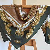 Платок шёлковый марки Sevini. Итальянский винтаж 70-80г.г.