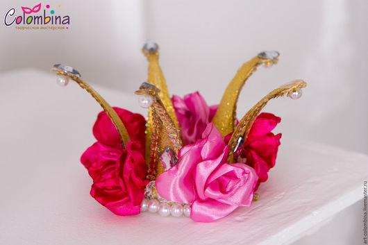 Детские карнавальные костюмы ручной работы. Ярмарка Мастеров - ручная работа. Купить Корона принцессы роз. Handmade. Золотой