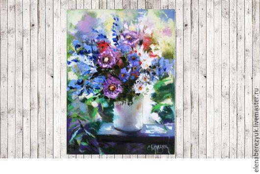 Картины цветов ручной работы. Ярмарка Мастеров - ручная работа. Купить Летние прогулки - картина маслом на холсте, картина цветов, цветков. Handmade.