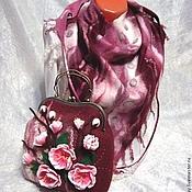 "Аксессуары ручной работы. Ярмарка Мастеров - ручная работа валяный комплект ""Цветущая сакура"". Handmade."