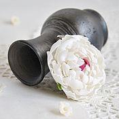 """Украшения ручной работы. Ярмарка Мастеров - ручная работа Кулон """"Белый пион"""". Handmade."""