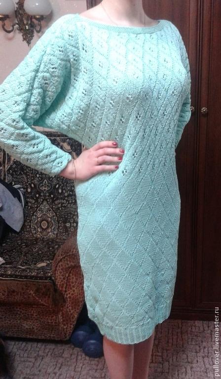 """Платья ручной работы. Ярмарка Мастеров - ручная работа. Купить Платье """"Тиффани"""". Handmade. Мятный, тиффани, летучая мышь, недорого"""