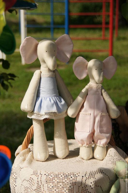 Куклы Тильды ручной работы. Ярмарка Мастеров - ручная работа. Купить Очаровательная слониха. Handmade. Голубой, нежность, текстильная игрушка