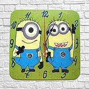 Для дома и интерьера handmade. Livemaster - original item Minions Clock kids wall clock handmade. Handmade.