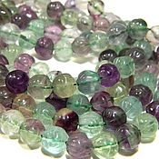 handmade. Livemaster - original item Fluorite rose carved beads for jewelry.( ZK02). Handmade.
