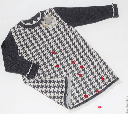 """Одежда для девочек, ручной работы. Ярмарка Мастеров - ручная работа. Купить Платье """"Гусиные лапки"""". Handmade. Серый"""