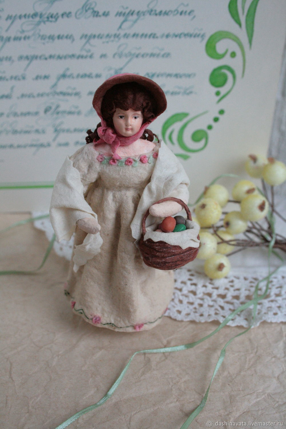 Easter souvenir ' Young lady with an Easter basket', Easter souvenirs, Orel,  Фото №1